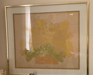 *Signed* Ronald Riddick Daisies N' Yellow Collagraph33x36x2inHxWxD