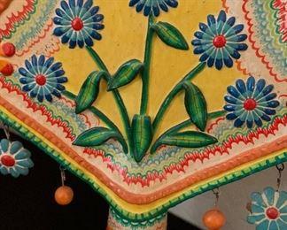 #4 Tree of Life Mexican Folk Art Candelabra FLORES FAMILY19x16x5inHxWxD