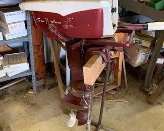 Vintage Johnson 7.5 hp boat motor with all original paperwork