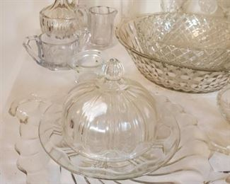 Vintage Glass, Cut, Etched More