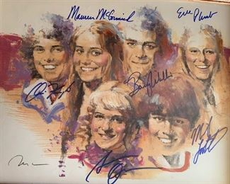 Rare Brady Bunch Cast Autographed  Signed and Numbered Print
