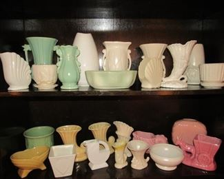Collection of McCoy, Hull, & Haeger pottery