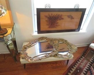 Great selection of Florentine style gilt mirrors