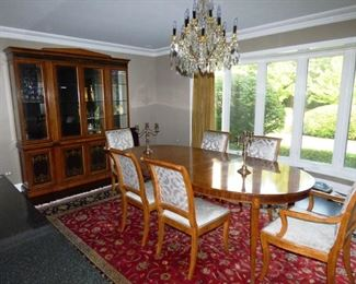 """$685.00   DR Table 44"""" x 64"""" with 22"""" Leaves and 6 Chairs. Chairs have been recently recovered."""