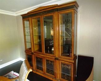 $575.00  Large Lighted Display Hutch. Multiple Intensity lighting. Silverware drawer inside cabinet