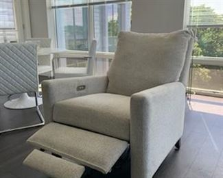 This lush Comfort Design Power Recliner features 3 reclining positions (Picture 2 of 6).  Sale Price $500