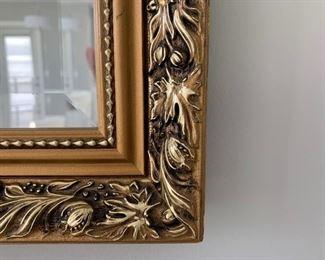 "Gold Tone Accent Mirror 47""H X 35""W (Picture 3 of 3).  Sale Price $75"