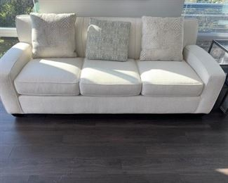 """Rowe Sofa featured in Chocolate with accent pillows 84""""L X 38""""D X33""""H  (Picture 2 of 3). Sale Price $400"""