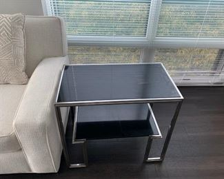 Art Deco  inspired end table with granite top  (Picture 3 of 3). Sale Price $250