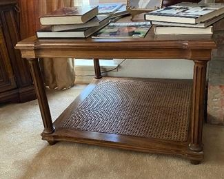 Davis Furniture wicker bottom, wood top, $150.00