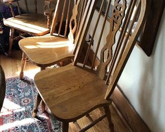 oak dining chairs - Four side and two arm available