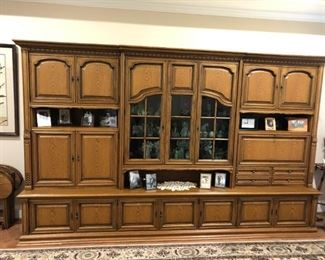 Italian wall unit (shrunk) with beautiful craftsmanship. Brought back from Italy in the early 80's. Must see to believe.
