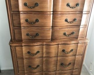 Antique Maple Highboy dresser $200