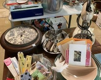Kitchenware, cards and sewing notions