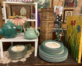 Teapots, dishes...