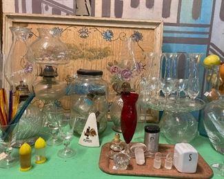 Glassware, etc.