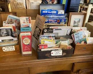 Maps, postcards, other ephemera