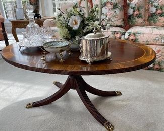 GORGEOUS BANDED COFFEE TABLE BY HENKEL-HARRIS