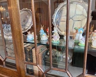 LEATHER BOUND BOOKS AND FIGURINES (ROYAL DOULTON BUNNYKINS)