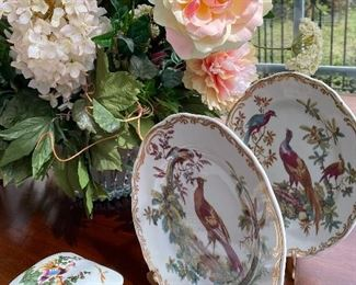 PAINTED PLATES AND FLORALS