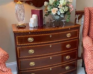 BAKER CHEST WITH PULL OUT TOP SHELF