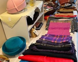 Extraordinary Collection of DesignerWomen's Clothing and Accessories Including: Purses by Coach, LouisVuitton, Gucci, Kate Spade, Fendi, Eric Javitts, Black-Saks 5th Ave, Burberry, Prada & India Hicks. Scarf/Pashmina by Lily Pulitzer, Eileen Fisher, Burberry, Inouitoosh, Nina Ricci & Ferragamo. Belts by Brighton, Prada & Scrimshaw. Shoes size 7-7.5 (38) by Vaneli, Eric Javitts, Franco Sarto, Talbots, Cole Haan, J McLaughlin & J. Renee. Clothing sized S-L (2-14)by Misook, St. John, Lily Pulitzer, J. McLaughlin, Persifor, Talbots, Eileen Fisher, Brooks Bros., Escada, Joseph Ripkoff, Gretchen Scott, Rickie Freeman, Karina, Vera Pelle, Lafayette148 &Tadashi.