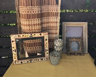 vintage frames and decorative items