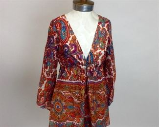 Alice & Trixie Cotton Paisley Tunic Lined.