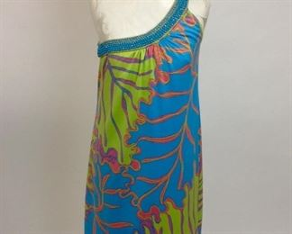 Lily Pulitzer Jubilee Off Shoulder Beaded Dress.