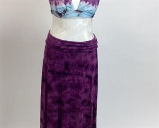 Lucky Brand Swimsuit Tie Dye with Matching Long Skirt.