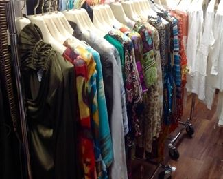 Large Selection of Designer Tunics and Blouses.