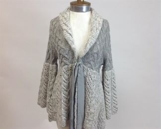 Guinevere Wool Cable Knit Jacket