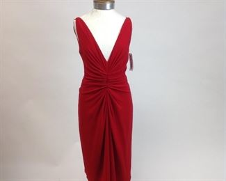 Jackie Rogers 100% Silk Red Cocktail Dress ( NWT)