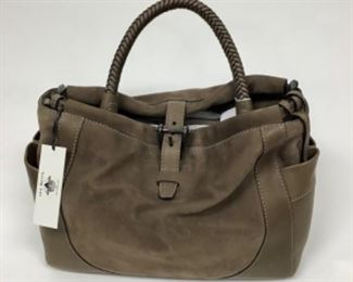 Liebeskink of Berlin Taupe Leather Handbag