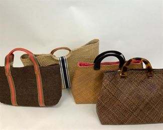 Assorted Rattan Totes