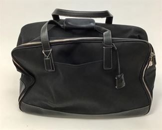 Coach Black Fine Canvas and Leather Luggage