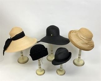 Assorted Hats by Deborah Harper,  Eric Javits, Laura Ashley, and hinge
