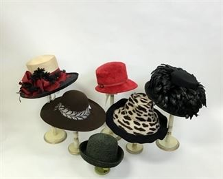 Assorted Hats by Kathleen Balbona, Headworks of England, Anne Moore for Oprah,  and Anthony Maxwell