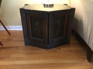 Wood hexagon end table, was $40, SALE $15