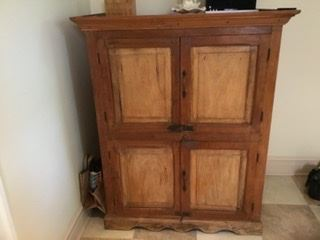 "Antique storage armoire/pantry, 41""x26""x51"" high, was $160, SALE $60, or best offer"