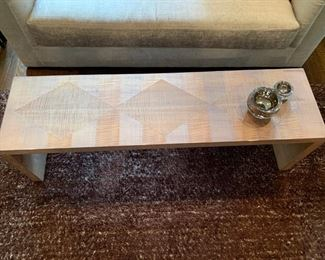 """12. Prince Charles Lacquered Coffee Table w/ Inlay (60"""" x 16"""" x 18"""")"""