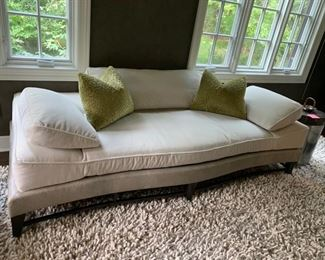 """38. Donghia Velvet and Shagreen Victoria Sofa/Day Bed (84"""" x 35"""" x 30"""")"""