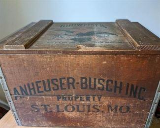 vintage Anheuser-Busch wooden case