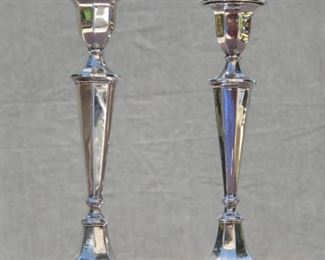 Sterling Silver Candle Sticks made in Sheffeld England. By Fordham & Faulkner c.1906 British Hallmark Sterling