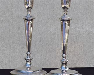 Sterling Silver candle sticks by Crichton of London/New York 1915 British Hallmark Sterling