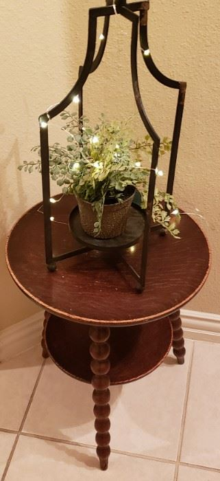 Small Antique Spindle Table