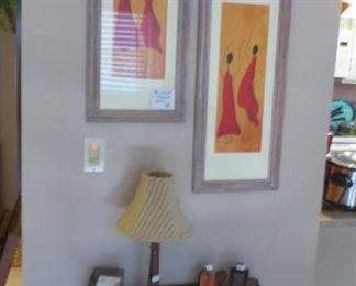 Mahogany 1/2 Table and Prints