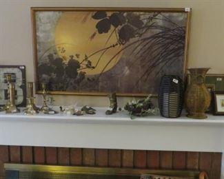 Print, Brass Candle sticks, Vases