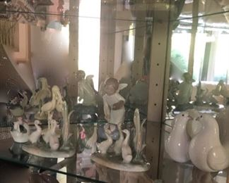 Lladros & porcelain collectibles