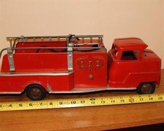Metal firetruck